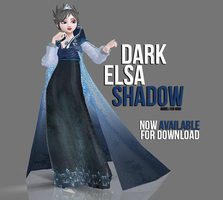 [MMD] Dark Elsa - Shadow AVAILABLE by wintrydrop