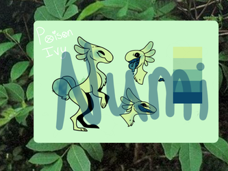 Poison Ivy | Mochi Raptor Adopt [CLOSED] by Numitastic