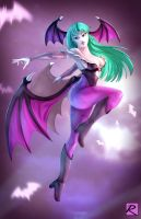 SW2017: Morrigan Aensland by digitalninja by ppgrainbow