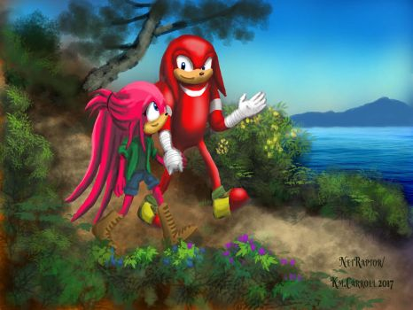 Knux and Glad by NetRaptor