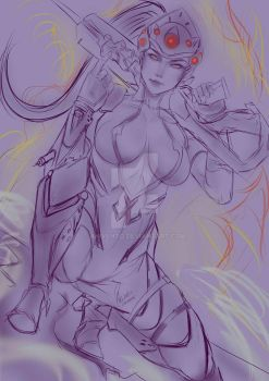 Sketch overwatch widowmaker by anivento