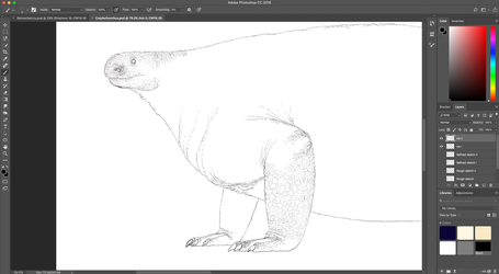Cotylorhynchus WIP by PrehistoryByLiam
