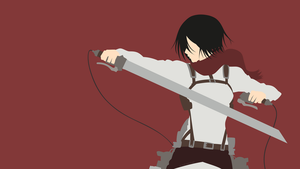 Mikasa Ackerman [2] (Attack on Titan) by ncoll36