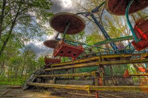 Abandoned carousel_3 by DDr3ams