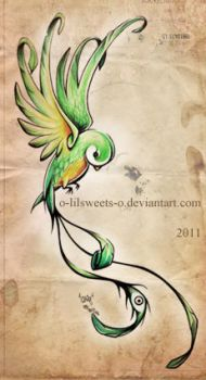 Quetzal inspiration by Claire-Sinturel