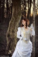 Victorian Lady - White Dress by adelhaid