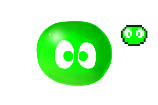Green Puyo by Dannyman12