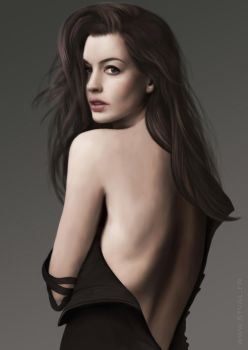 Anne Hathaway by StephanieVALENTIN