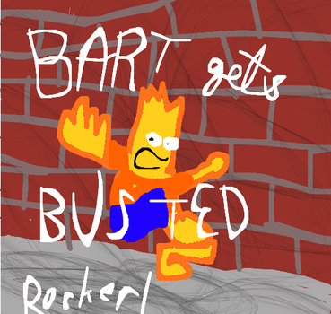 Bart gets Busted Cover by Rocked1