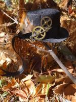 Steampunk tiny hat by Hiddendemon-666