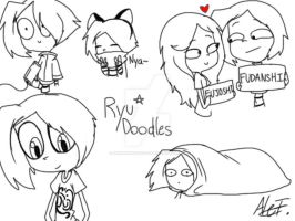 Ryu Doodles 2 by MoonlightWolf17