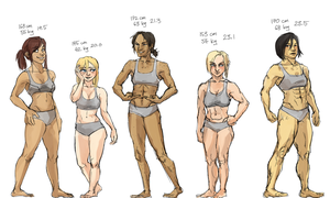 104th squad girls lineup by PayRoo