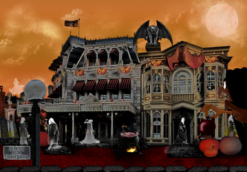Halloween Evening at the Spooky Mall by WDWParksGal