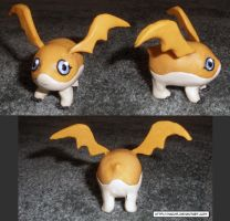 Clay Digimon: Patamon by HeyLookASign