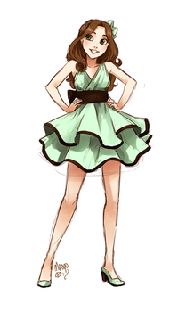 mint and chocolate ice cream fullbody by meago