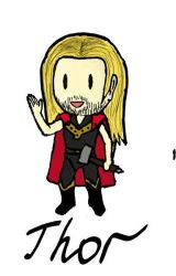Chibi Thor by Martisius