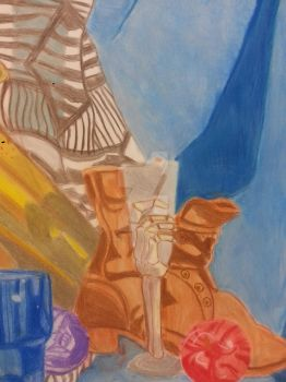 Still-life Pastel Drawing for Drawing II class by VampiresaQueen