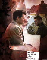 the day you made me smile (Destiel fanart) by mistofstars