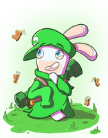 Rabbid Luigi by Zanefir-Dran