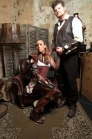 Steampunk couple by Firefly182