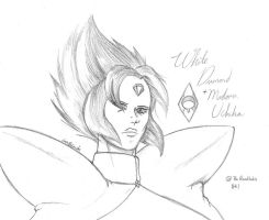 White Diamond / Madara Uchiha by CrowDeCorvidae