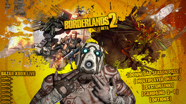 Borderlands 2 custom main menu PSD - Preview by DecadeofSmackdownV3