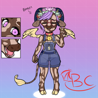 HORNED HIPSTER COW GIRL AUCTION!!! by AnnieTheLilDragon