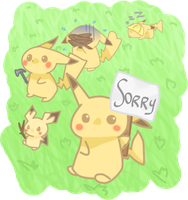 Pikachu Family at Work by Classifications