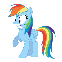 Surprised Rainbow Dash by RogerDaily