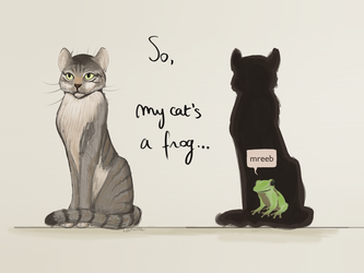So, my cat's a frog... by PoisonSoldat