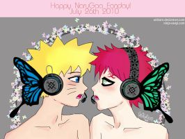 NaruGaa Magnet - Happy Fanday by unikorn