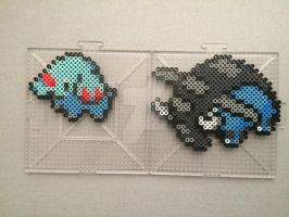 #231-#232 Phanpy and Donphan Perlers by TehMorrison