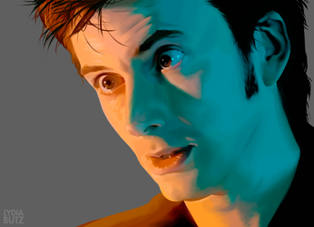 RUN - Doctor Who Painting by Girl-on-the-Moon