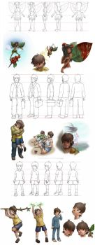 Old character model sheets by gabmonteiro9389