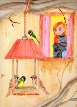 Watching birds by Lady-Ignea