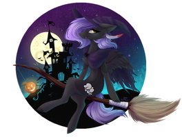 YCH Witch Flight - Cloudy Night by Monogy
