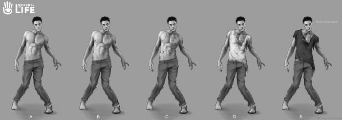 Zombie guy concept for Second Life - Linden Lab by Hamilton74