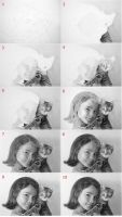 Girl and Cat Drawing Process by LateStarter63