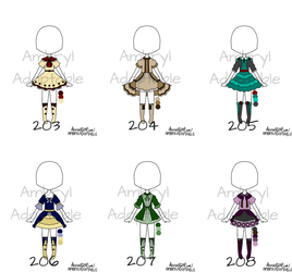 [CLOSED] Outfit Adopts 203-208 by ambryladoptable