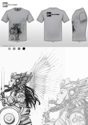 Valkyrie- Mythical Creatures T-Shirt Contest by Sunkanimy