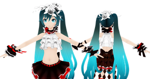 PDF2nd Bless you Miku w/ FT hair MMD - WIP by Terrathde