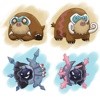 PokeVariants: Mamoswine and Cloyster