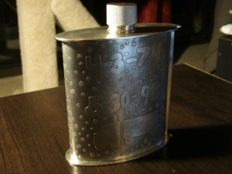 Pewter Flask by JN-Leather