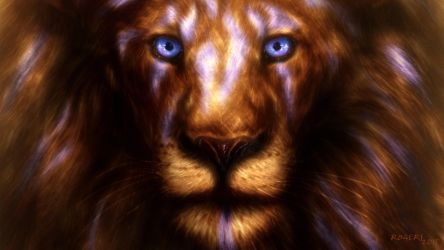Lion of Judah Tribal Widescreen wallpaper by Red-Rogers