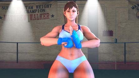 Street Fighter V - Chun-li (Sparring Outfit) by CaliburWarrior