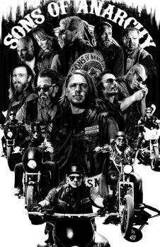 Sons of Anarchy by ShomanArt