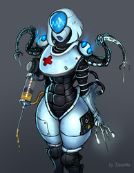 ss 13 space station 13 spacestation13 cyber nurse by Xianetta