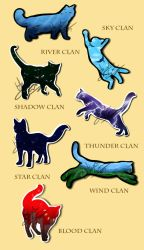 Warrior Cats Stickers [FOR SALE] by SpaceSheep-Art