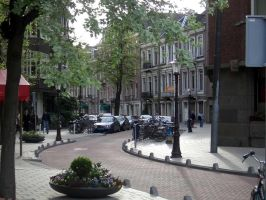 Curved Street in Amsterdam by barefootliam