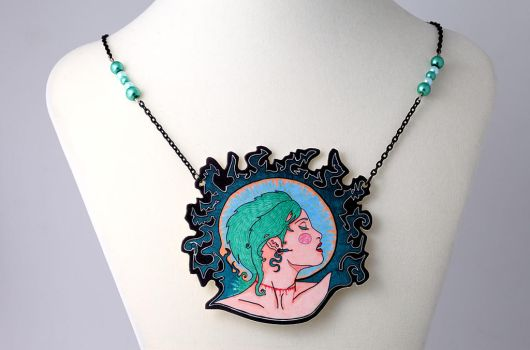 Modern Day Medusa Necklace by LilithScream
